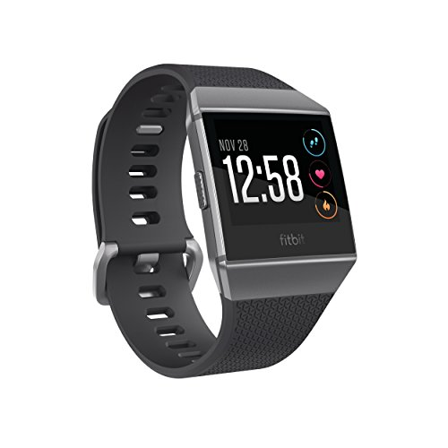 Fitbit Ionic Health & Fitness Smartwatch, Charcoal, Onesize
