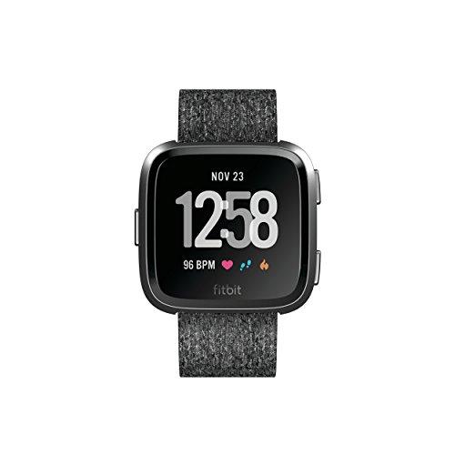 Fitbit Versa Special Edition Health & Fitness Smartwatch, grau, One Size, FB505BKGY-EU