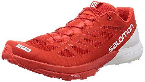 Salomon Unisex-Erwachsene S/Lab Sense 6 Traillaufschuhe, Rot (Racing Red/White/White 000), 42 2/3 EU
