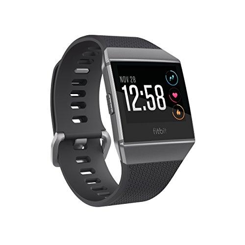 Fitbit Ionic Health & Fitness Smartwatch, Dunkelgrau und Rauchgrau,Einheitsgröße