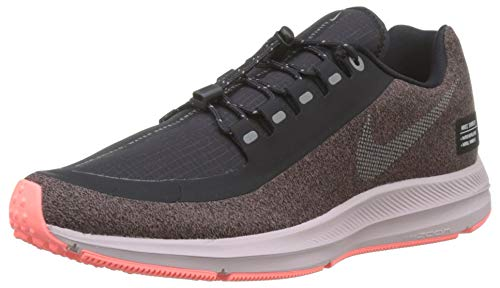 Nike Damen Zm Winflo 5 Run Shield Laufschuhe Violett (Smokey Mauve/MTLC Silver/Oil Grey/Particle Rose/Black 200) 39 EU