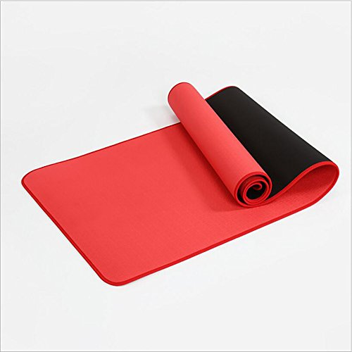 GAOJUAN Yoga Matte 6Mm Smart TPE Umweltschutz Yogamatte Locking Side Yoga Matte Schwangere Frauen Verfügbar Fitness Matte Mit Trageriemen (Größe: 183 * 61 cm),Watermelonred