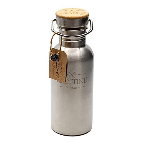 Kantine 51° Nord Trinkflasche Outdoor 500ml aus Edelstahl | 100% BPA-frei und nachhaltig | Gut für Kinder, Erwachsene und die Umwelt | Perfekter Begleiter für Kindergarten, Schule, Uni und Büro
