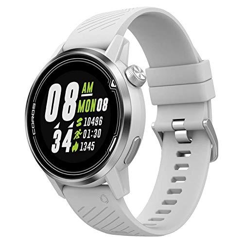 Coros Apex hochwertige Multisport GPS Uhr mit Pulsmesser, 35h GPS Akku, Saphirglas, Barometer, ANT+ & BLE Verbindungen, Strava & Training Peaks, 42mm weiß, 42mm