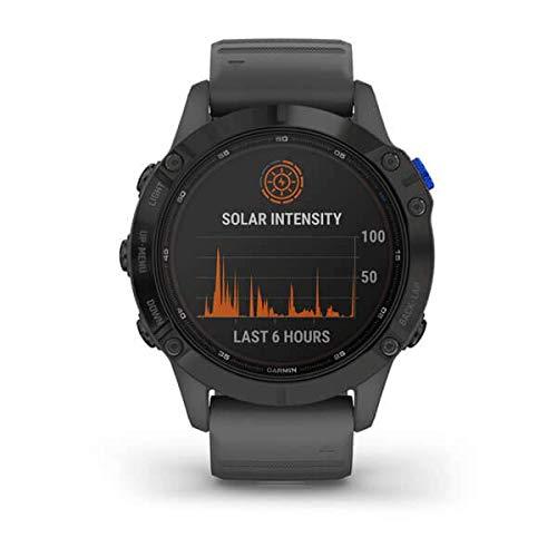 Garmin Fenix 6 Pro Solar Smartwatch Schiefergrau/Schwarz 010-02410-11