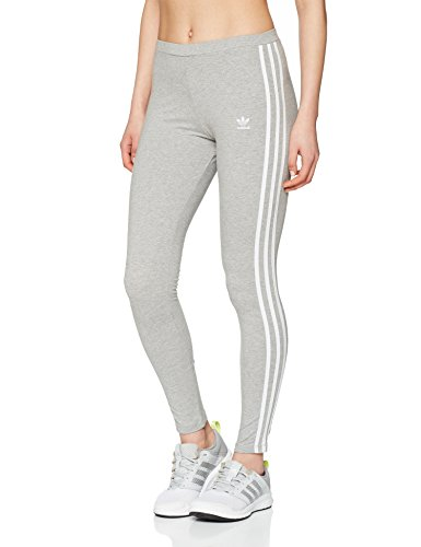 adidas Damen 3 STR Tights, Grau(medium grey heather), 36