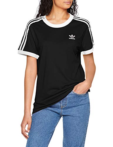 adidas Damen 3 Stripes_CY4751 T-Shirt, Schwarz (black), 38