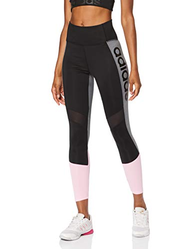 adidas Damen Design 2 Move Colorblock High-Rise 7/8 Tights, Black/True Pink, M