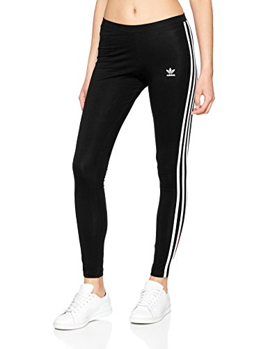 Adidas Damen Leggings 3 Streifen, Schwarz (Black), 34