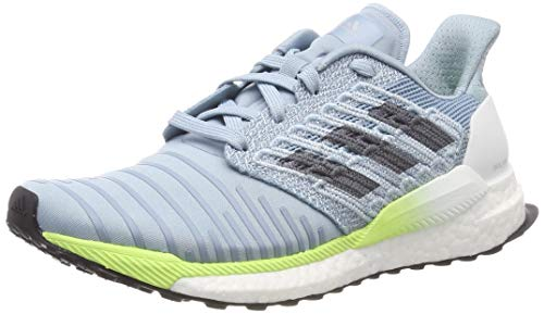 adidas Damen Solar Boost W Laufschuhe, Grau Ash Grey S18/Onix/Hi/Res Yellow, 40 2/3 EU