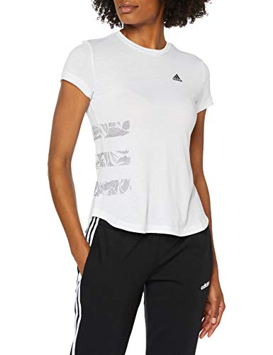 adidas Damen Three Stripe T-Shirt, White, S