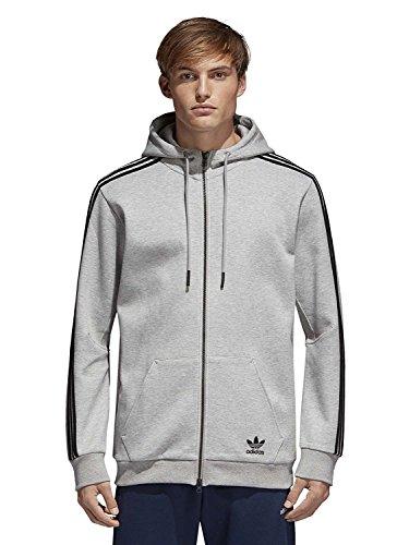 adidas Herren Curated Jacke, Medium Grey Heather, L