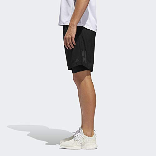 "adidas Herren Own The Run 2in1 Shorts, Black, L 7"""