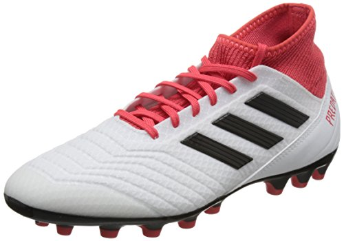 adidas Herren Predator 18.3 AG Fußballschuhe, Weiß (Footwear White/Core Black/Real Coral), 44 EU