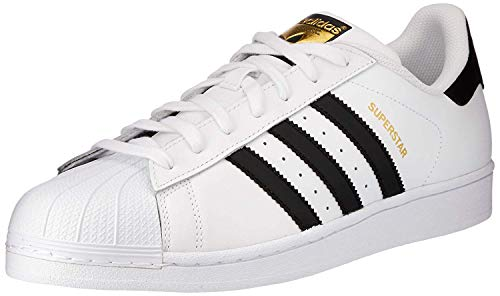 Adidas Unisex-Kinder Superstar J C77154 Low-Top, Weiß Core Black/FTWR White, 38 EU