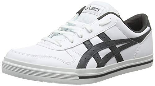Asics Aaron, Herren Gymnastikschuhe, Weiß (White/Dark Grey 100), 45 EU