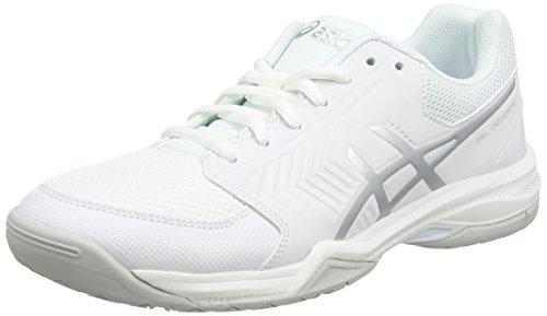 Asics Damen Gel-Dedicate 5 Laufschuhe, Elfenbein (White / Silver), 41.5 EU