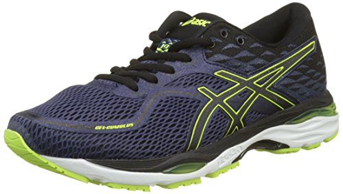 ASICS Herren Gel-cumulus 19 Laufschuhe, Blau (Indigo Blue/black/safety Yellow 4990), 46 EU