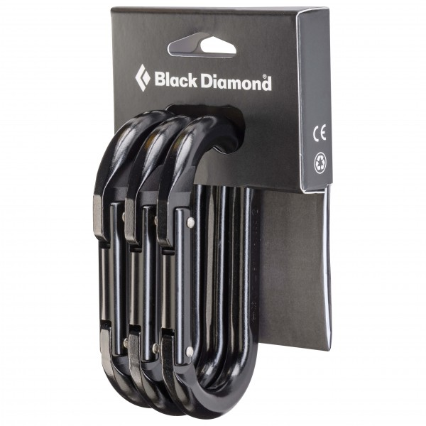 Black Diamond - Oval 3 - Schnappkarabiner grau/weiß