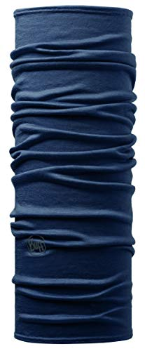 Buff Erwachsene Multifunktionstuch Merino Solid Denim, one size