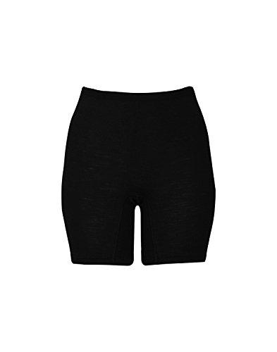 Dilling Merino Shorts für Damen - Unterwäsche aus 100% Bio-Merinowolle Schwarz 38
