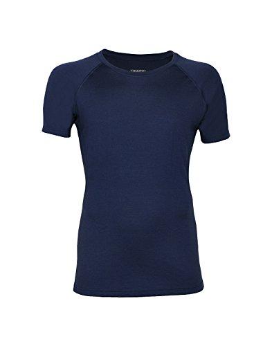 Dilling Merino T-Shirt für Herren - optimal für Alltag, Sport und Freizeit aus 100% exklusiver Merinowolle Dunkelblau XL