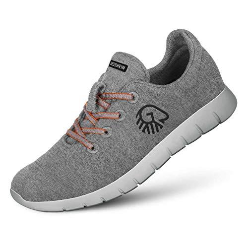 GIESSWEIN Herren Woll-Sneaker Merino Runners, Grau, 44 EU