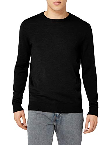 JACK & JONES PREMIUM Herren Jprmark Knit Crew Neck Noos Pullover, Schwarz (Black), Large