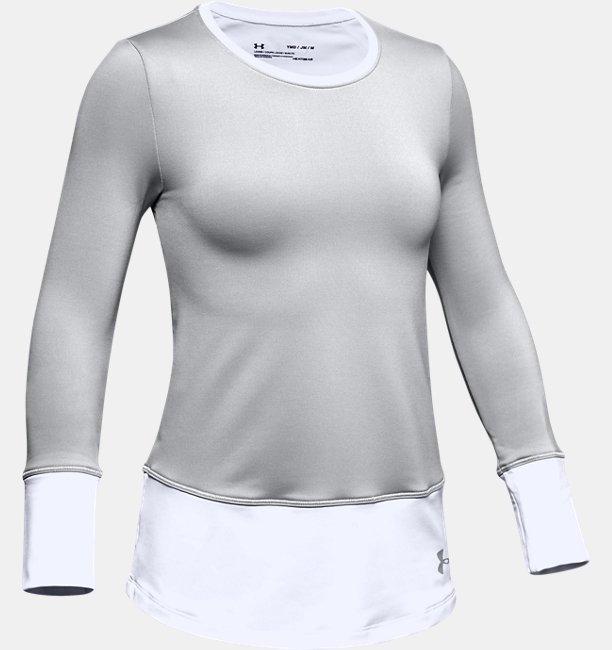 Mädchen ColdGear® Langarmshirt mit Rundhalsausschnitt