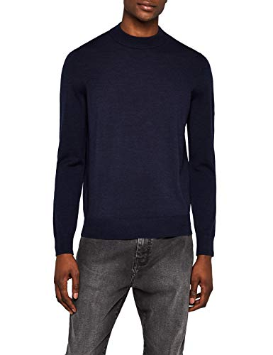 MERAKI High Neck Merino Pullover, Blau Navy), X-Large