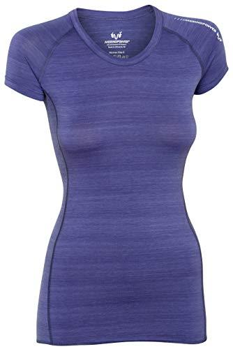 MERINO POWER Merinopower Damen T-Shirt Rundhals aus ultrafeiner, natürlicher Merinowolle