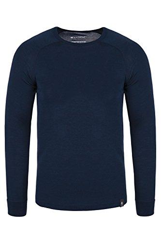 Mountain Warehouse Merino Langarm Baselayer-Thermotop für Herren - Leichtes T-Shirt, warm, antibakteriell, schnelltrocknend - Ideal bei kaltem Wetter Winter Baselayer Marineblau Large
