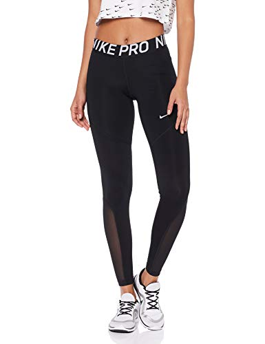 Nike Damen Pro Leggings, Black/White, S