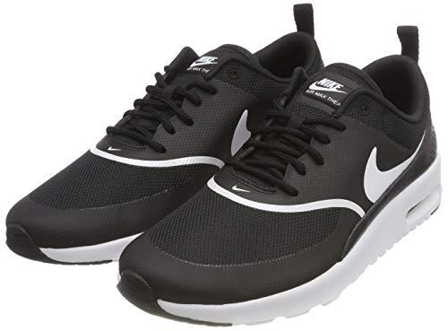 NIKE Damen Sneaker Air Max Thea Laufschuhe, Schwarz (Black/White 028), 36.5 EU