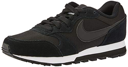Nike Damen, Sneaker, Md Runner 2, Schwarz (Schwarz/Weiß), 40 EU