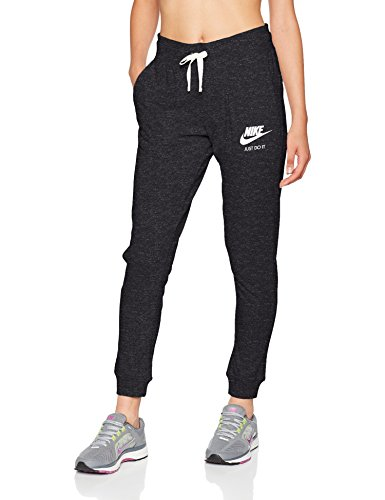 Nike Damen Trainingshose Gym, Schwarz (Black/Sail) , M