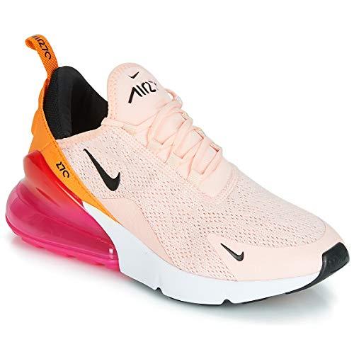 Nike Damen W Air Max 270 Leichtathletikschuhe, Mehrfarbig (Washed Coral/Black/Laser Fuchsia 000), 39 EU