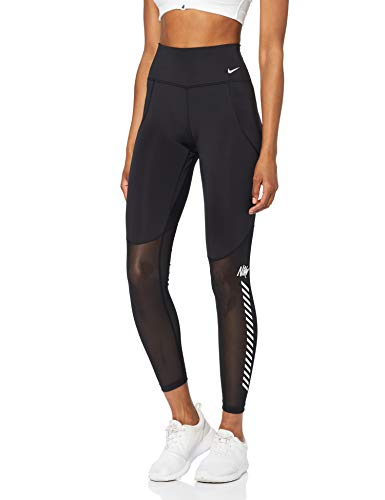Nike Damen W NK All-IN SPT DST GRX 7/8 Pants, Black/White, S