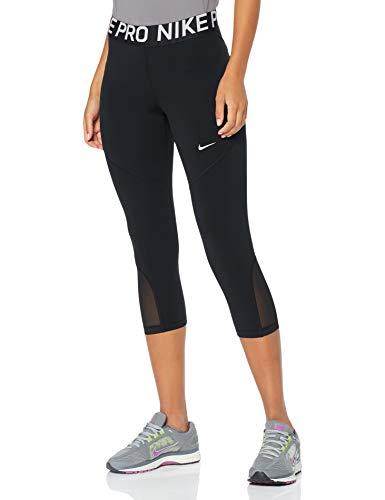 Nike Damen W NP PRO CAPRI Sport Trousers, black/White, M