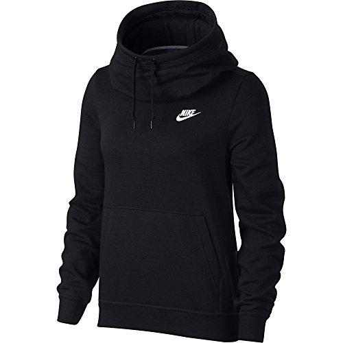 Nike Damen W NSW Fnl FLC Kapuzen Sweatshirt, Schwarz (Black/White), M