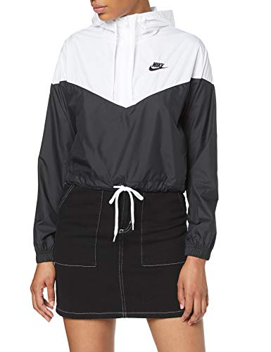 Nike Damen W NSW HRTG JKT WNDBRKR Jacket, Black/White, L