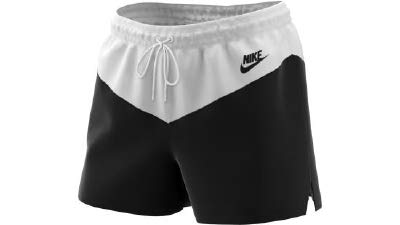 Nike Damen W NSW HRTG WVN Shorts, Black/White, M