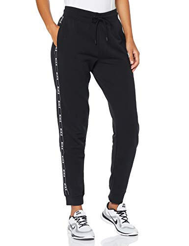 Nike Damen W NSW Logo Tape Pants, Black/White, M