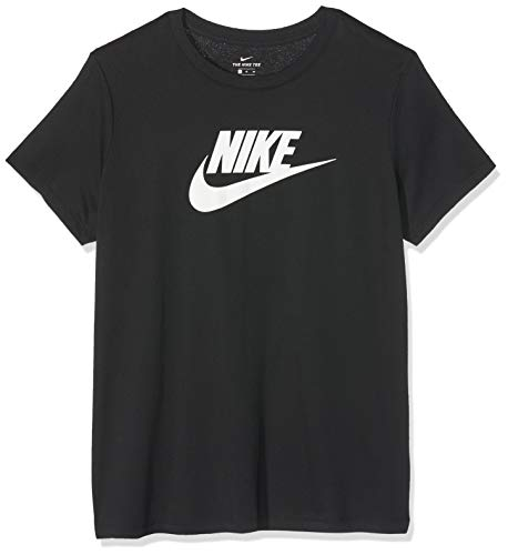 Nike Damen W NSW Tee ESSNTL ICON Futura T-Shirt, Black/White, S