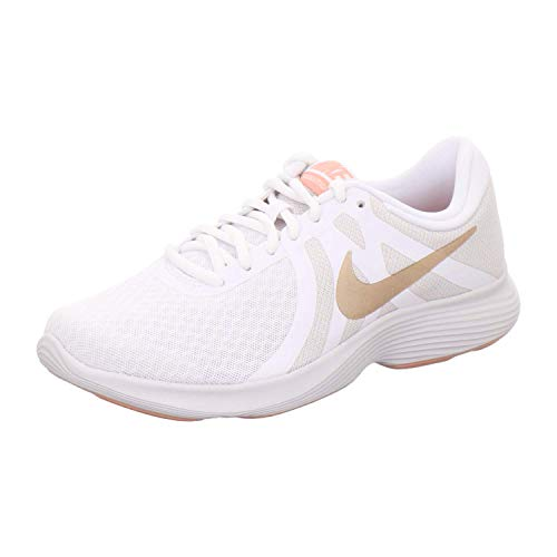 Nike Damen Women's Revolution 4 Running Shoe (eu) Traillaufschuhe, Weiß (White/MTLC Red Bronze-Vast Grey 102), 39