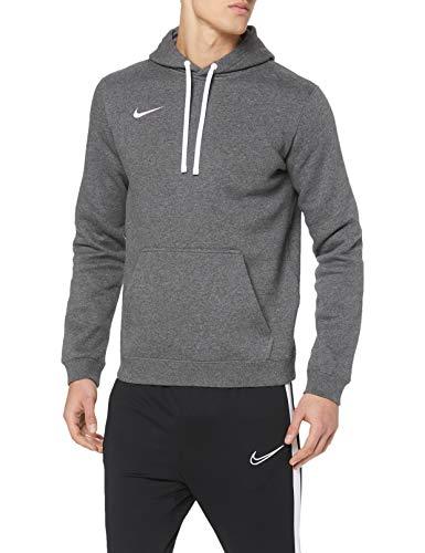 Nike Herren Club 19 Hoodie, Charcoal Heather/Anthracite White, M