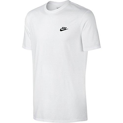 Nike Herren Club Embroidered Futura T-Shirt, weiß (White/Black), XL