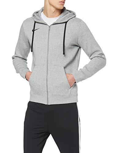 Nike Herren Hoodie FZ Fleece TM Club19, Grau (Dk Grey Heather/063), XL