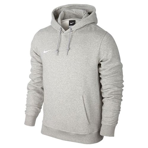 Nike Herren Kapuzenpullover Team Club, Grau (Grey Heather/White), L