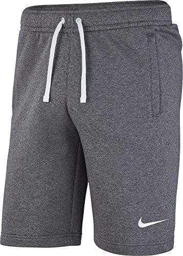 Nike Herren M FLC TM CLUB19 Sport Shorts, Charcoal Heathr/Anthracite/White, L